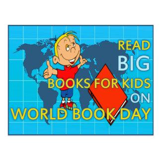 Read BIG on World Book Day Postcard