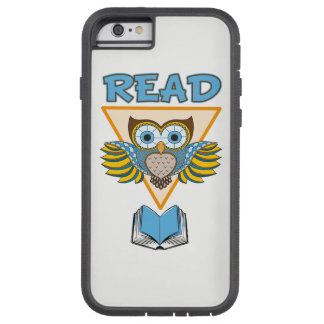 Read Books Blue Gold Owl Tough Xtreme iPhone 6 Case
