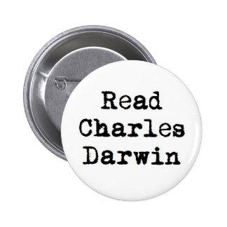 Read Charles Darwin Pinback Button