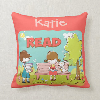 Read Child Throw Pillow