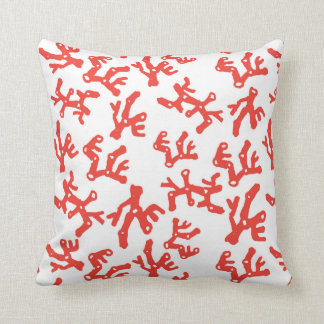Read Coral Square Pillow