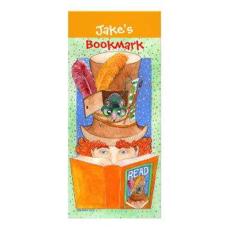 """READ"" Customizable Large Bookmark Full Color Rack Card"