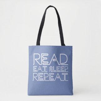 Read, Eat, Sleep, Repeat Tote Bag