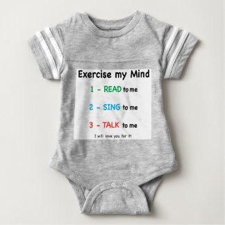 READ - Exercise My Mind Baby Bodysuit