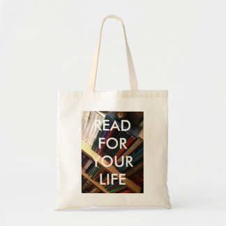 """Read for your life"" tote Budget Tote Bag"