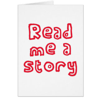 Read me a story! greeting card