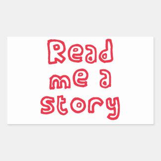 Read me a story! rectangular sticker