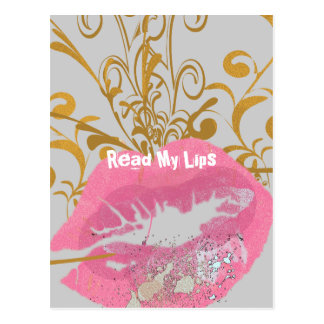 Read My Lips Postcard