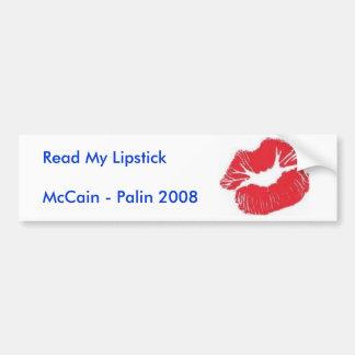 Read My Lipstick Bumper Sticker