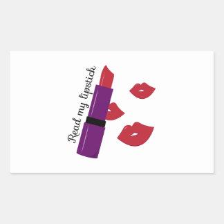 Read My Lipstick Rectangle Stickers