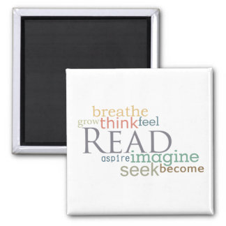 Read, Seek, Imagine Magnet (Light)