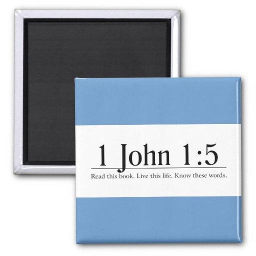 Read the Bible 1 John 1:5 Fridge Magnets