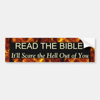 Read the Bible Funny Religious Humor Bumper Sticker