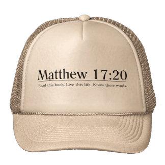 Read the Bible Matthew 17:20 Hat
