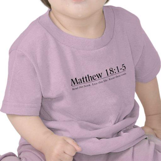 Read the Bible Matthew 18:1-5 Tee Shirt