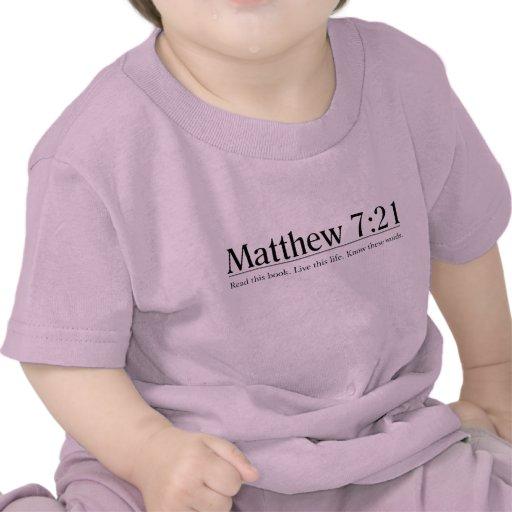 Read the Bible Matthew 7:21 T-shirts