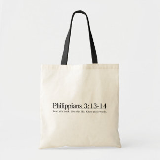 Read the Bible Philippians 3:13-14 Tote Bag