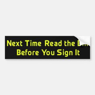 Read The Bill Anti-Obama Bumper Sticker