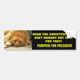 Read the Constitution? Ain't Nobody.... Bumper Stickers
