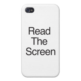 Read The Screen iPhone 4/4S Covers