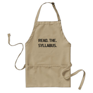 read the syllabus standard apron