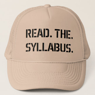 read the syllabus trucker hat