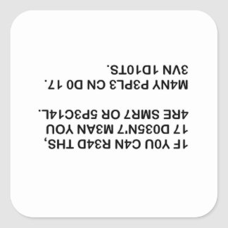 Read This Square Sticker