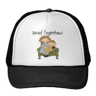 Read Together Mom and Boy Tshirts and Gifts Cap