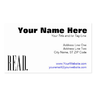 Read (Ver 1) Business Card Templates