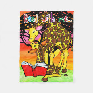 Read with me...giraffe blanket