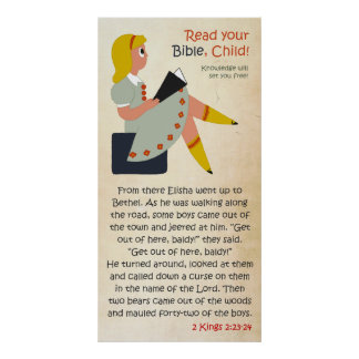 Read Your Bible, Child - Elisha's Story Poster