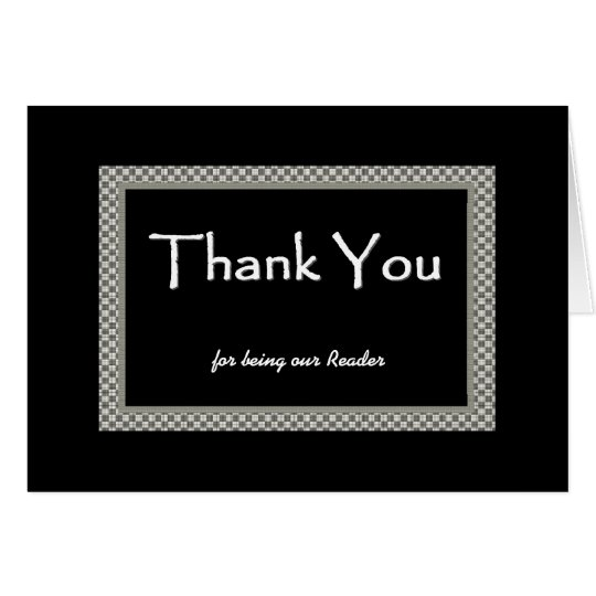 READER Chequerboard Wedding THANK YOU Card