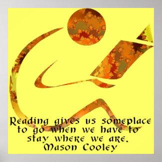 Reader Golden Quote Print