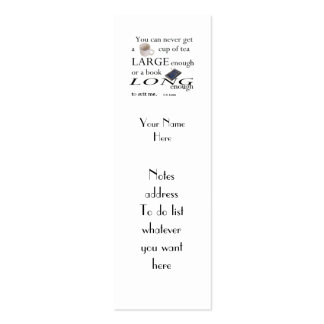Reader's C.S.Lewis Quote Bookmark to Customise Pack Of Skinny Business Cards
