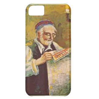 Reading a Hebrew newspaper iPhone 5C Cases