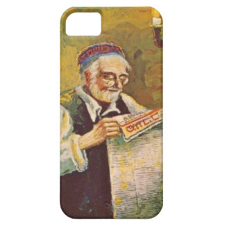 Reading a Hebrew newspaper iPhone 5 Cases