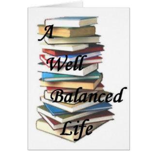 Reading Books Life Card