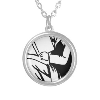 Reading Books Silver Plated Necklace