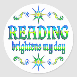 Reading Brightens My Day Stickers