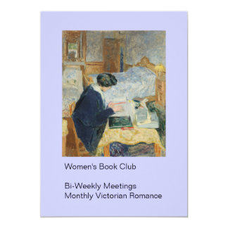 Reading by the Bedside 13 Cm X 18 Cm Invitation Card