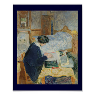 Reading by the Bedside Poster