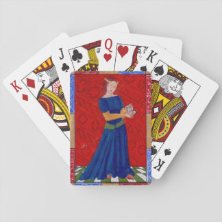 Reading Damsel Playing Cards