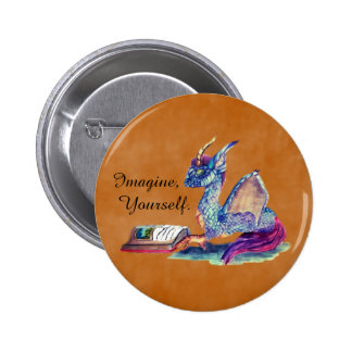Reading Dragon 6 Cm Round Badge