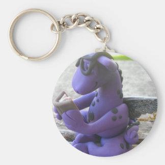 Reading dragon keychain