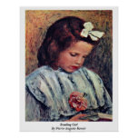 Reading Girl By Pierre-Auguste Renoir Poster