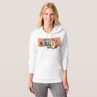 Reading Girl with a Yellow Labrador Hoodie