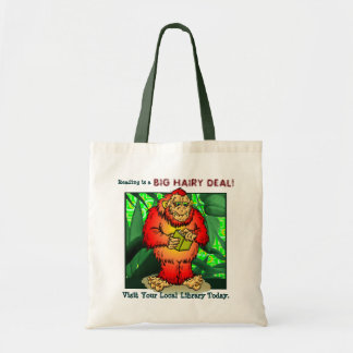 Reading is a Big Hairy Deal! Tote Bag