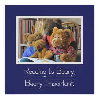 Reading is Beary Important Poster