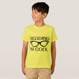 Reading is Cool Kids T-shirt with Cat Eye Glasses