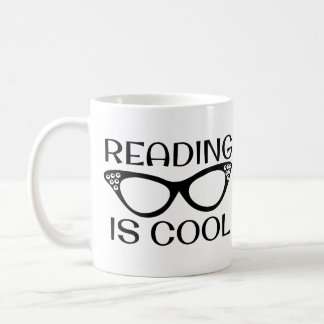 Reading is Cool Mug with Cat Eye Glasses